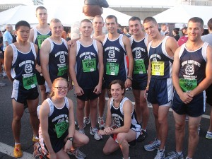 <p>A team of Army ROTC cadets from UConn placed second in the ROTC division of this year's Army Ten-Miler in Washington, D.C. Photo by UConn ROTC</p>
