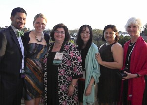 Marcus Moss, Laura Huling, Dr. Ruth Goldblatt, Devra Dang, Dr. Kenia Mansilla, and Petra Clark-Dufner at the GIES award ceremony in San Diego for the 2011 American Dental Education Association's Annual Session on March 14, 2011. (Dr. Kenia Mansilla)