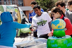 The Earth Day Spring Fling is one of many activities that promote sustainability on campus.