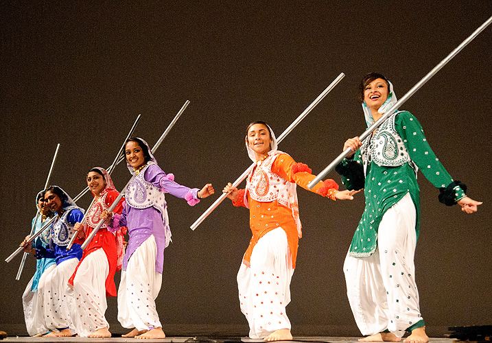 UConn Husky Bhangra performs at Asian Nite 2012 on Feb. 25, 2012. (Max Sinton for UConn)