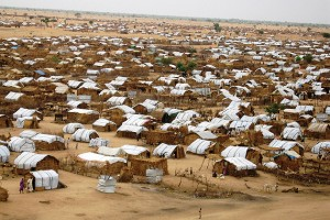 View of Zam Zam, internally displaced persons (IDP) camp in Darfur, Sudan, 2006