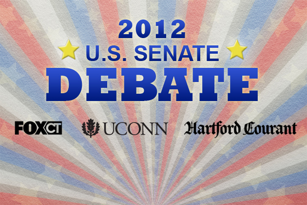Fox CT/Hartford Courant/UConn 2012 Senate Debate logo