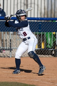 Jennifer Ward '12 (CANR), a senior outfielder, has a .938 fielding percentage and is hitting .243 with 18 runs batted in this season. (Steve Slade '89 (SFA) for UConn)