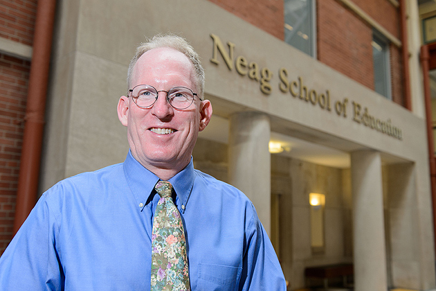 John Settlage, associate professor of curriculum and instruction at the Neag School of Education on July 26, 2012. (Peter Morenus/UConn Photo)