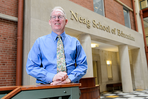John Settlage, associate professor of curriculum and instruction, is principal investigator of a study aimed at understanding how certain schools excel in science education. (Peter Morenus/UConn Photo)