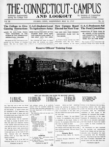 Student newspaper digitized cover from May 30, 1917.