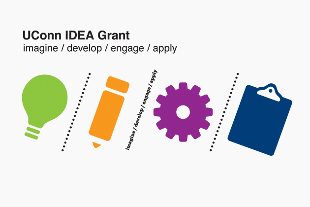 UConn IDEA Grant logo [ imagine / develop / engage / apply ]