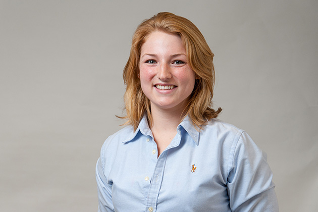 Lisa Dauten '13 (College of Agriculture & Natural Resources) on March 5, 2013. (Sean Flynn/UConn Photo)