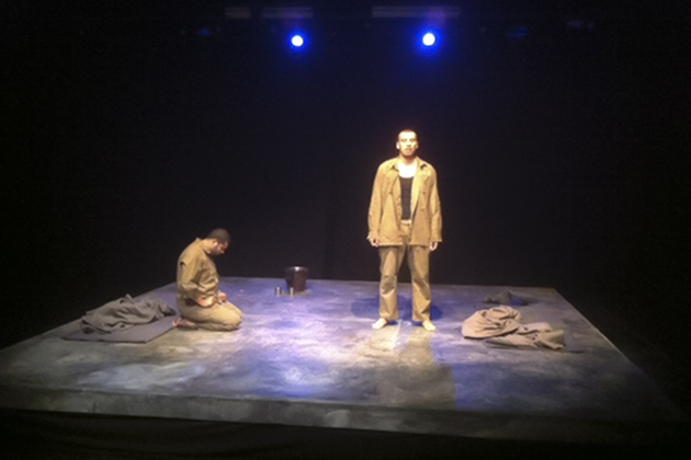 Freedom Theatre's production of The Island, by Athol Fugard, opens a tour of the U.S. at the Nafe Katter Theatre on Sept. 6. (Mohammed Moawiya for UConn)