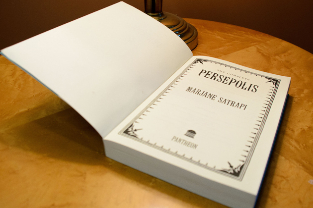 The title page of The Complete Persepolis. (Ariel Dowski '14 (CLAS)/UConn Photo)