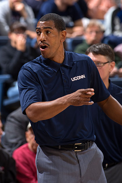 Kevin Ollie says he just wants to be himself. (Stephen Slade '89 (SFA) for UConn)
