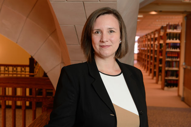 Molly Land, professor of law and human rights, joined UConn this fall from New York law School. (Peter Morenus/UConn Photo)
