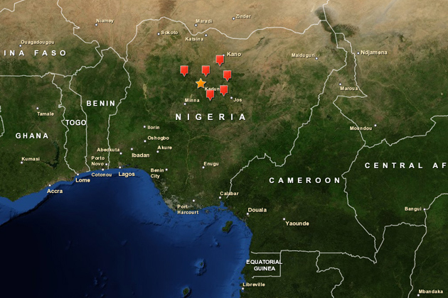 GIS mapping provides valuable information on the spread of zoonotic disease in Nigeria. (Photo courtesy of CLEAR)