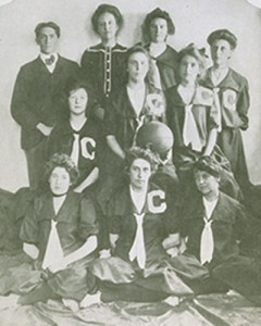 The first women's basketball team.
