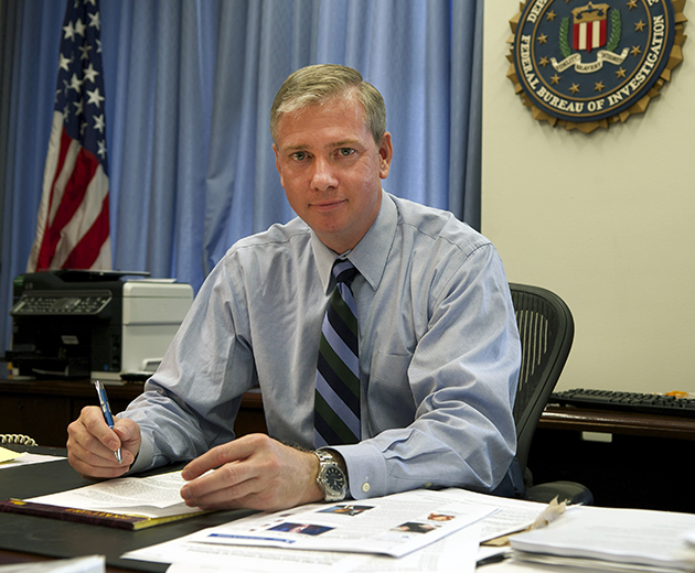 Jim Trainor '93 MPA, deputy assistant director, FBI Cyber Division. Trainor has worked for the FBI since 1996. (Photo courtesy of the FBI)