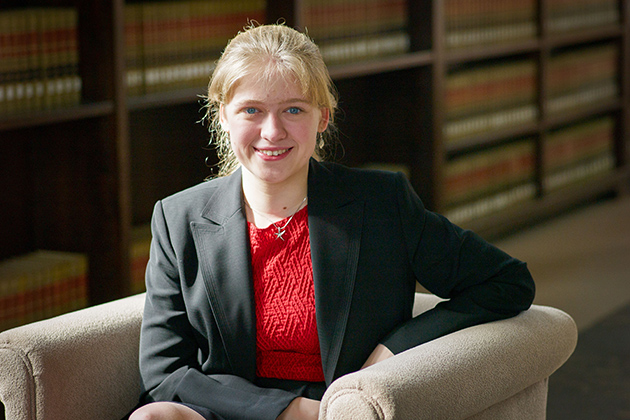 Political science major Molly Rockett '15 (CLAS) has been awarded the Truman Scholarship for students who are dedicated to a career in public service. (Peter Morenus/UConn Photo)