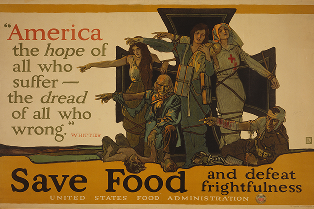 'America, the hope of all who suffer ...,' Herbert Andrew Paus (1880-1946), color lithograph poster. (Courtesy of the Library of Congress, Prints and Photographs Division)