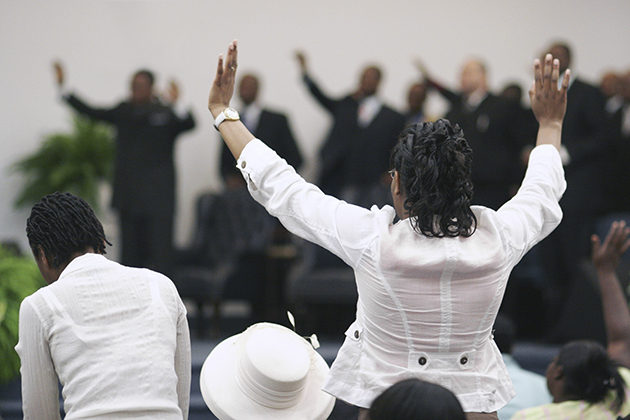 An African American congregation at worship. (iStock/UConn Photo)