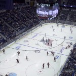 UConn hockey plays Boston College in November 2014. (UConn File Photo)