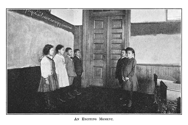 An early conduct book depicts a moment of success at a spelling competition. From Silas X. Floyd, Floyd's Flowers: Duties and Beauties for Colored Children, 1905. Reprinted as Short Stories for Colored People Both Young and Old (Washington, D.C.: Austin Jenkins Company, 1920). (Figure 2.5 from Civil Rights Childhood, courtesy of University of Minnesota Press)