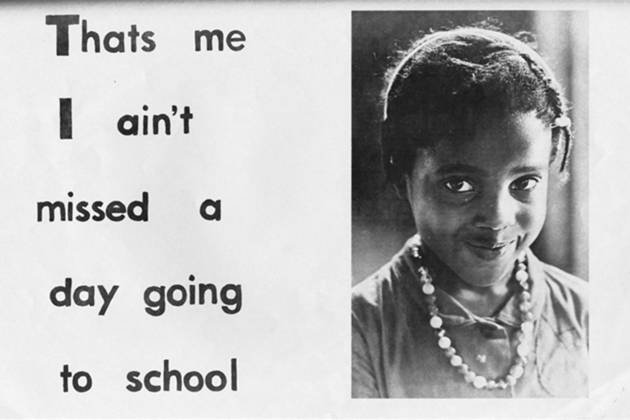Figure 3.1. A girl looks directly at the photographer. From Today, Child Development Group of Mississippi, 1965. McCain Library Archives, The University of Southern Mississippi.
