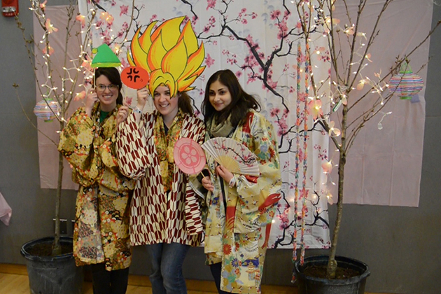 UConn's first Cherry Blossom Festival, on April 25, 2015. Brice Boutot '16 (CLAS)/(UConn Photo)