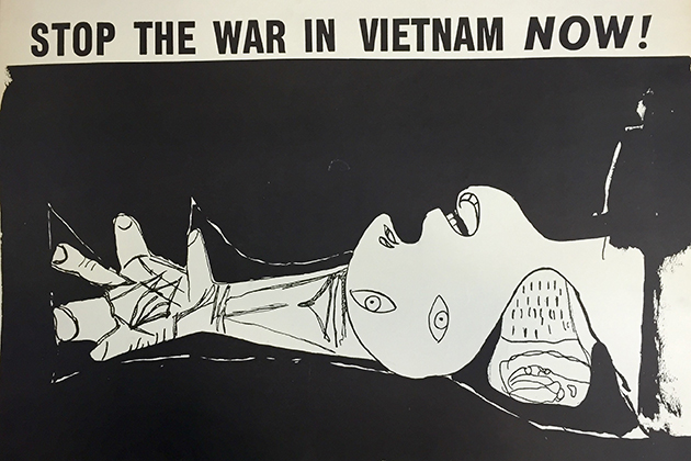 """Stop the War in Vietnam Now!"" c. 1970 offset print. Pablo Picasso"