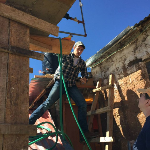 Installing solar heating panels on 10 homes in five days was the ambitious goal of a group of UConn students visiting Peru in late May. As part of a thermosiphon system, the solar panels will enable the residents to take hot showers.