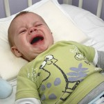 A baby crying. UConn researchers are investigating how the brain distinguishes the sounds made in communication. (iStock Photo)