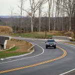 The new road connecting Route 44 to the Storrs Campus is now open. (Peter Morenus/UConn Photo)