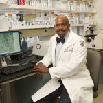 Dr. Cato T. Laurencin in his lab at UConn Health. (Lanny Nagler for UConn)