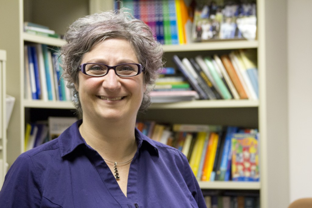 Assistant professor of psychology Marie Coppola's work investigates the effects of early sign language learning on the ability of deaf and hearing children to understand math. (Christine Buckley/UConn Photo)