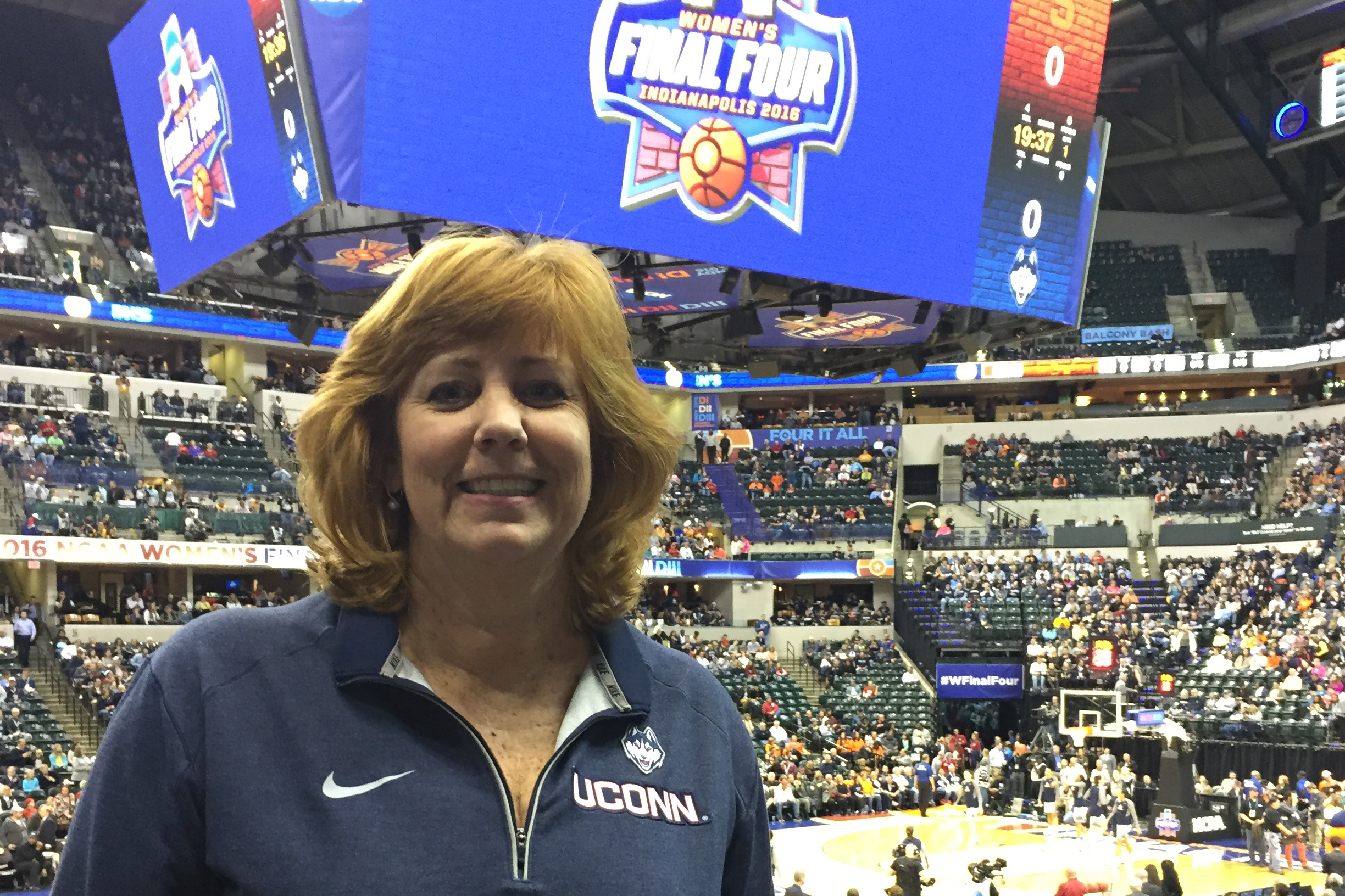 Lucy Gilson, professor of management and a faculty advisor to some of the women's basketball players. (Photo courtesy of Lucy Gilson)