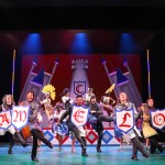 BFA and MFA acting students star in Monty Python's Spamalot onstage at Connecticut Repertory Theatre April 21-May 1, 2016. (Gerry Goodstein for UConn)