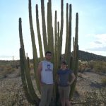 Us with a big cactus