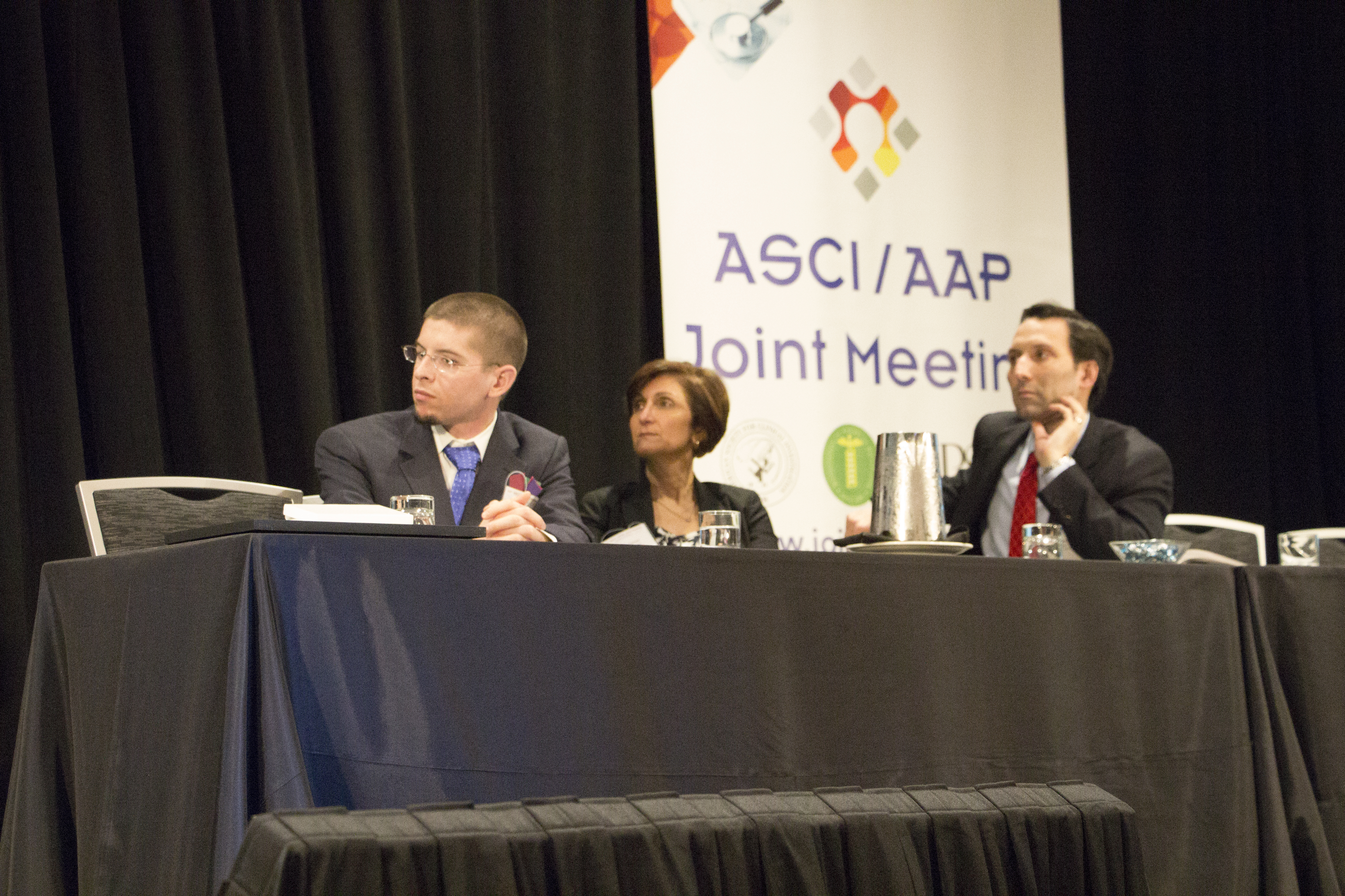 "UConn MD/PhD student and APSA President-Elect Alex Adami co-moderating the ""Cool Tools and Forward Technology"" plenary session of the AAP-ASCI-APSA Joint Meeting."