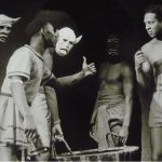 Production photo, Androcles and the Lion, Harlem Negro Unit. (Public Domain)