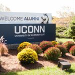 UConn Alumni welcome sign. (Defining Photo for UConn Foundation)