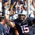Junior defensive end Luke Carrezola. (Bob Stowell for UConn)