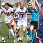 After claiming the 2016 American Athletic Conference regular season title Sunday, UConn women's soccer brought home five major conference awards and had six Huskies earn All-Conference honors. (Stephen Slade '89 (SFA) for UConn)