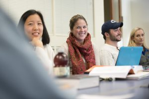 Students in class at UConn School of Law. (Sean Flynn/UConn Photo)
