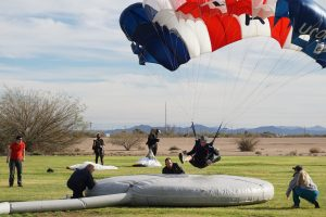 During winter break, the UConn Skydiving Team went to Skydive Arizona for the USPA National Collegiate Parachuting Championships on Jan. 3, 2017. (Douglas Hendrix)