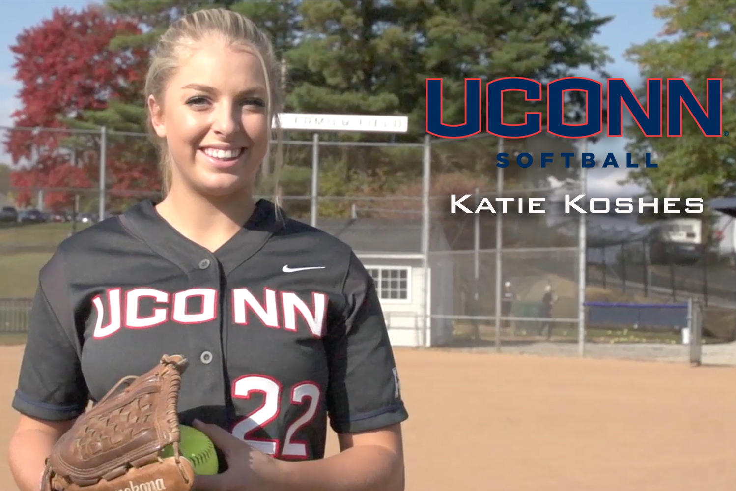 Katie Koshes, freshman softball pitcher. (Athletic Communications Photo)