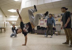 The Breakdance Club dance in Math-Science Building on Feb. 2, 2017. (Ryan Glista/UConn Photo)