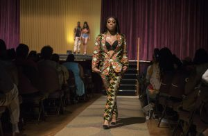 African students present a fashion and cultural show.