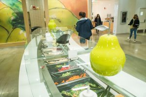 The newly renovated Putnam Refectory is one of eight UConn dining halls that have been certified as 'Green Restaurants' for practices that promote environmental sustainability. (Gail Merrill/UConn Photo)