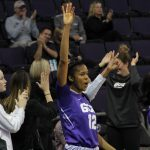 Erika Thomas '16 played volleyball throughout her four-year career at UConn. She also played a year of Division I basketball while working for a master's degree at Grand Canyon University. (GCU Photo)