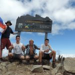 Stephen Schmidt, Garrett Yantosh, Mathew Pias and Conor Champagne, all Class of 2017, climbed to the summit of the tallest mountain in Costa Rica, Cerro Chirripo: 12,532 feet.