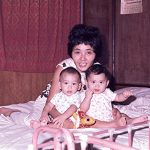 Cathy Schlund-Vials as a baby, right, with her twin brother and mother. (Courtesy of Cathy Schlund-Vials)