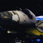 The Space Shuttle Atlantis, at the Kennedy Space Center Visitor Complex, a public museum near NASA's private facilities.